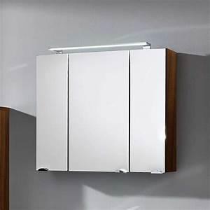 Bad Spiegelschrank 80 Cm Breit : bad spiegelschrank dalonia in walnuss 80 cm ~ Bigdaddyawards.com Haus und Dekorationen