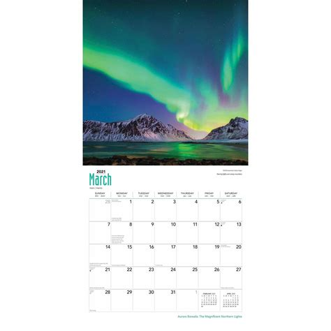 aurora borealis  magnificent northern lights calendar
