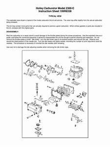 Holley Carburetor Model 2300