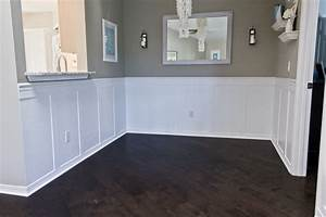 Building A Home Remodeling Dining Room Wainscoting Done