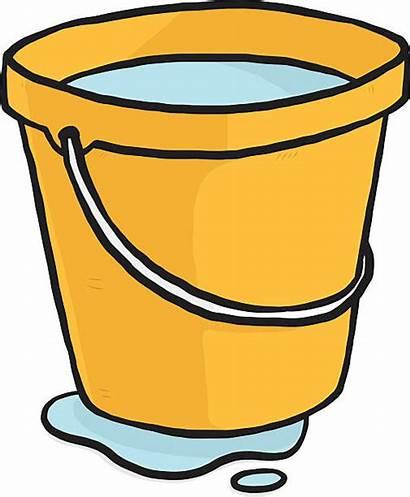 Bucket Pail Clipart Water Cartoon Yellow Eimer