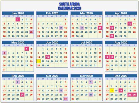 south african public holidays calendar  printable