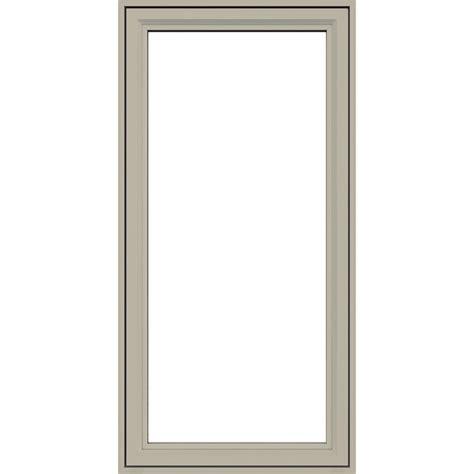 jeld wen premium vinyl casement windows desert sand carter lumber