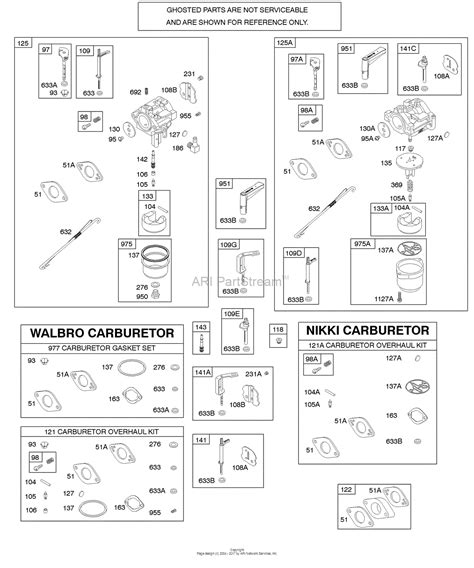 204412 Engine Diagram by Briggs And Stratton 204412 0119 E1 Parts Diagram For