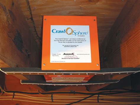 crawl space ventilation fans crawl space fan system to ventilate a crawl space in