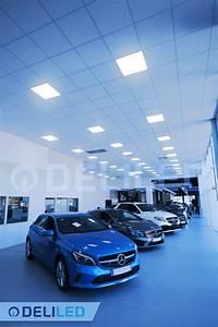 Garage Mercedes Avignon : eclairage avec des dalles led 600x600mm blog deliled ~ Gottalentnigeria.com Avis de Voitures