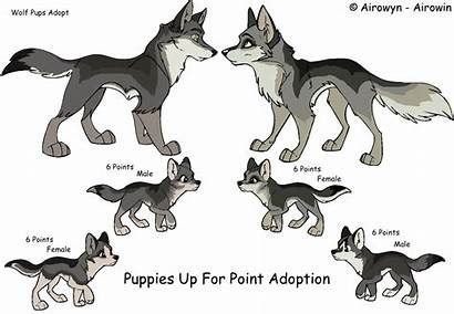 Wolf Pup Base Cartoon Anime Drawing Husky
