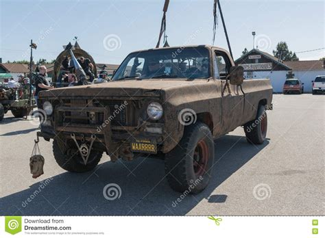survival truck cer post apocalyptic survival truck editorial image image