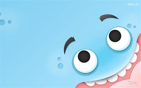 blue monster funny face hd wallpaper
