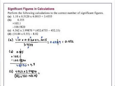 Significant Figures In Calculations Chemistry Youtube