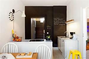 Farbgestaltung Küche Wand : k che mit gro er tafellack wand kolorat ~ Markanthonyermac.com Haus und Dekorationen