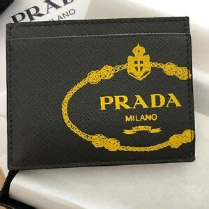 Get the best deals on mens prada card holder and save up to 70% off at poshmark now! Prada Men's Saffiano Print Gray Yellow Leather Credit Card Holder Wallet 2MC223   eBay