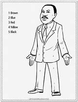 Luther Martin King Jr Coloring Pages Drawing Kindergarten Sheets Printable Worksheets Pdf Toddlers Template Reading Poverty Comprehension Elementary Books Sketch sketch template