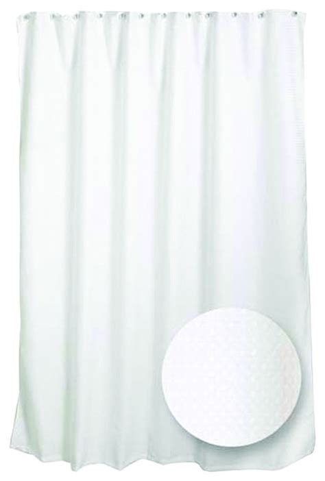 zenith h21ww spa waffle fabric shower curtain liner in