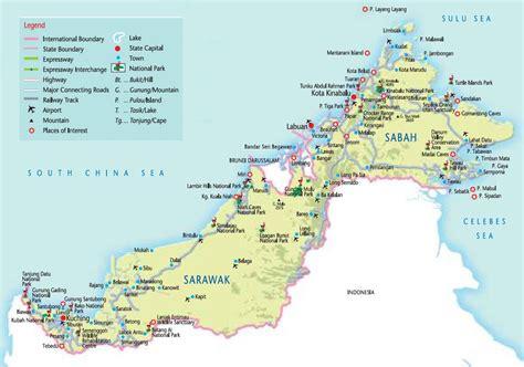 map detailed map  borneo malaysia sabah  sarawak