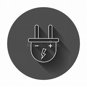 Plug Vector Icon In Line Style  Power Wire Cable Stock