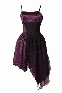 Robe bustier gothique romantique dentelle violet for Robe romantique dentelle