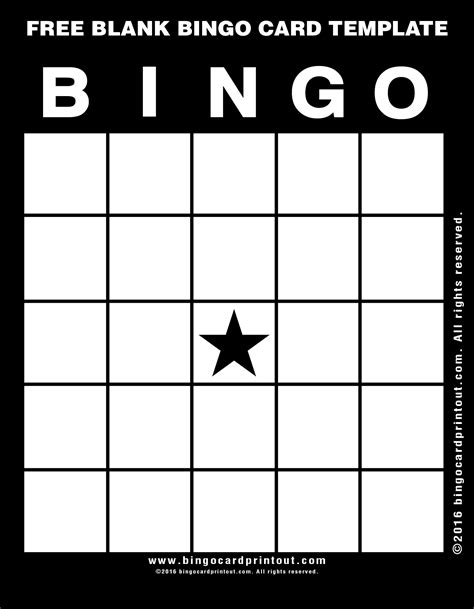 free bingo template free blank bingo card template bingocardprintout