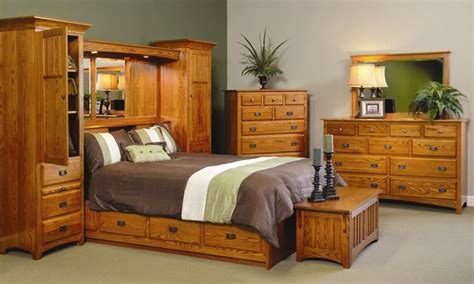 Bedroom Furniture Wall Units by Amish Monterey Pier Wall Bed Unit With Platform Storage