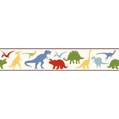 white wall hangings byr94301b dinosaur toss border dino mighties boy 39 s