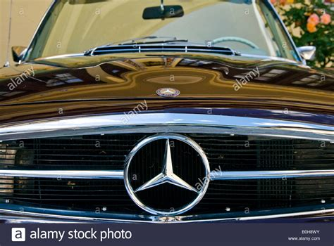 Vintage Or Classic Car Radiator Grill And Mercedes Star