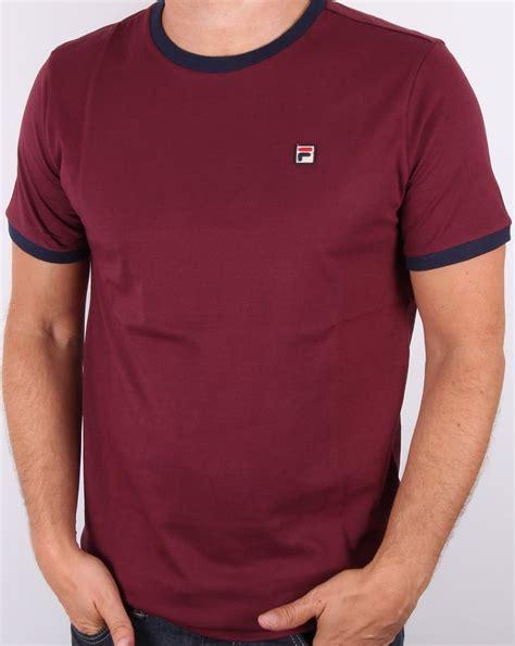 burgundy t shirt s fila vintage marconi t shirt burgundy 39 s