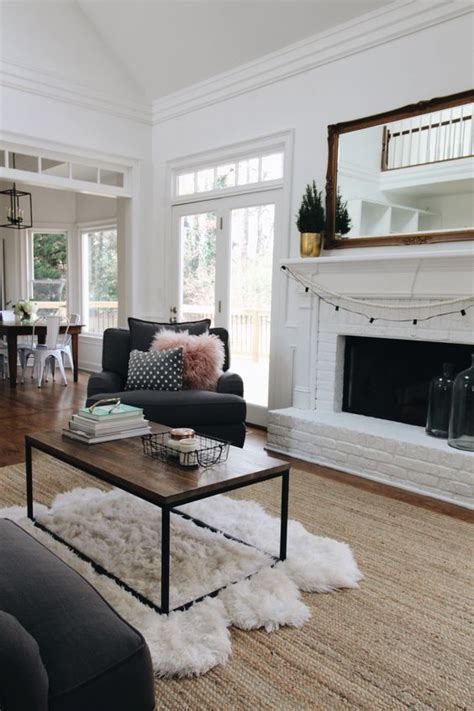 Living Room Design Brown Couch