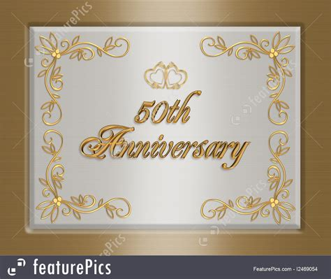 Cards And Posters: 50Th Golden Wedding Anniversary