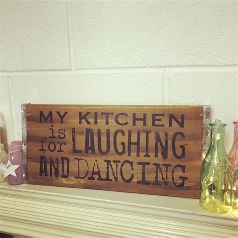 Vintage Wooden Large Rustic Pallet Sign  My Kitchen Is For