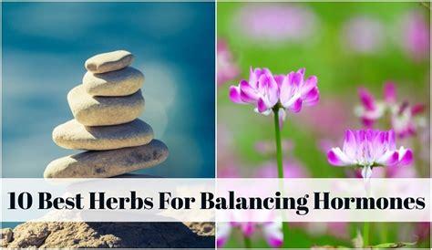 herbs  balancing hormones