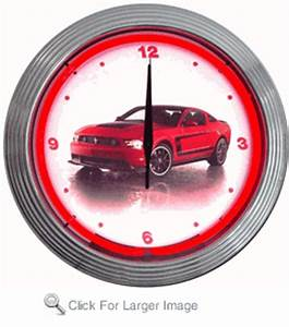 Ford Mustang Boss 302 Neon Clock only $99 99 Antique