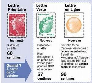 Poids Courrier Timbre : je choisis le timbre poste lettre verte ou lettre en ligne ~ Medecine-chirurgie-esthetiques.com Avis de Voitures
