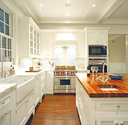 white kitchen cabinets with butcher block countertops butcher block countertops modern diy designs 2204