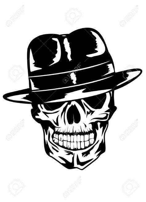 simple gangster skull tattoo stencil sarampas pinterest