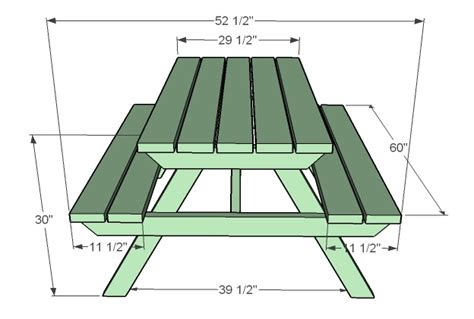 ana white   build  adult picnic table diy projects