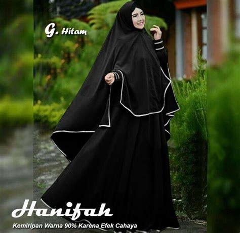 baju gamis hanifah syari warna hitam model baju gamis