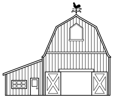 barn template printable barn coloring page coloring part 3