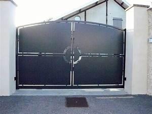 Portail En Aluminium : portails acier lyon portails aluminium lyon mions portail ~ Melissatoandfro.com Idées de Décoration