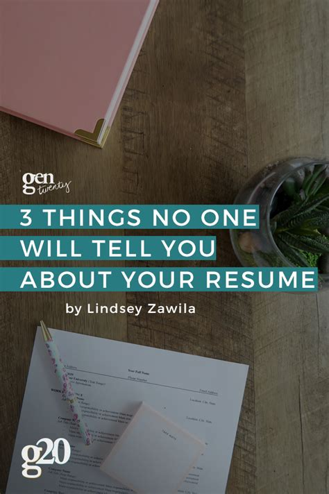 3 Things On A Resume by 3 Things No One Tells You About Your Resume