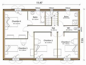 Plan Grande Maison : plan maison r 1 150m2 ~ Melissatoandfro.com Idées de Décoration