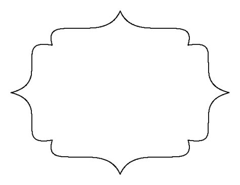 frame template bracket frame pattern use the printable outline for crafts creating stencils scrapbooking