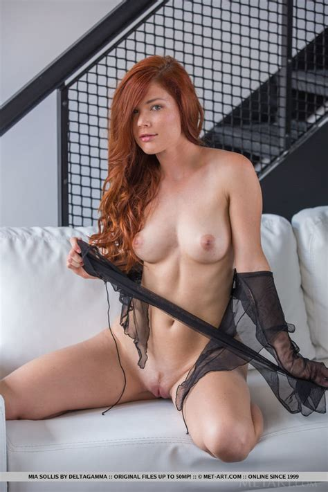 Redhead Babe Mia Sollis Naked With Her Legs Open Of