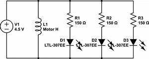 wiring how to wire circuit dc motor with led With connections through circuits shocking