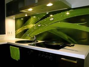 screen printed backsplash kitchen pinterest green With kitchen cabinets lowes with stick wall art