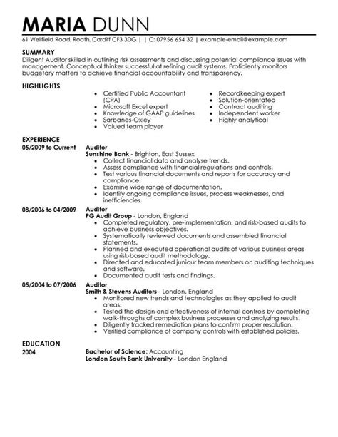Auditor Resume best auditor resume exle from professional resume