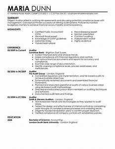 best auditor resume example livecareer With auditor resume