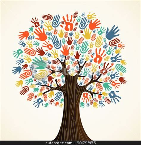 Stem Adobe Education Isolated Diversity Tree Hands Stock Vector Clipart Isolated Diversity Tree Hands Illustration