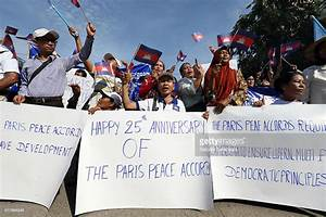 Supporters of the opposition Cambodia National Rescue ...