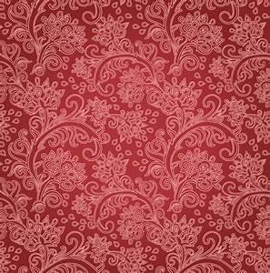 Red Flower Motif Pattern