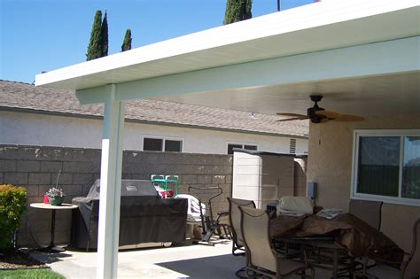 insulated vs non insulated aluminum patio cover home